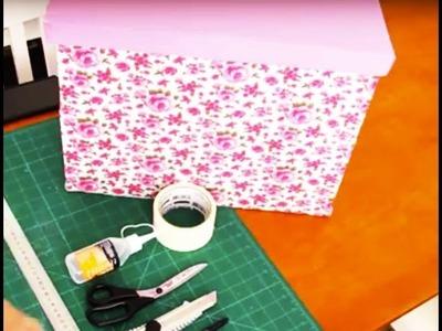 DIY - Organizador (forro com tecido)  || CANAL DA JULANI ✂️ Artesanato