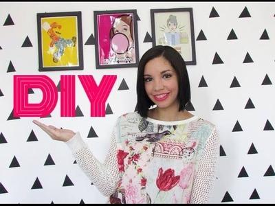 DIY: Parede de Triângulos - Transforme sua parede com menos de R$20 | Talita Ribeiro Blog