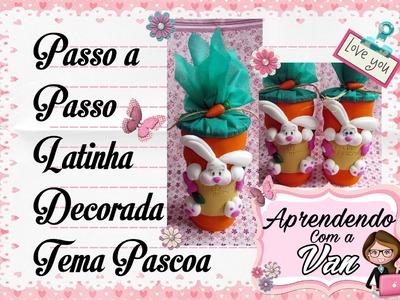 (DIY) PASSO A PASSO LATINHA DECORADA TEMA PASCOA