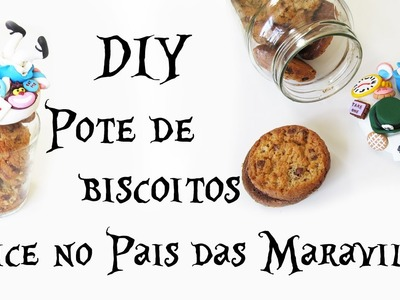 DIY: Pote de Biscoitos Alice no País das Maravilhas (Cookie Jar Alice in Wonderland Tutorial)