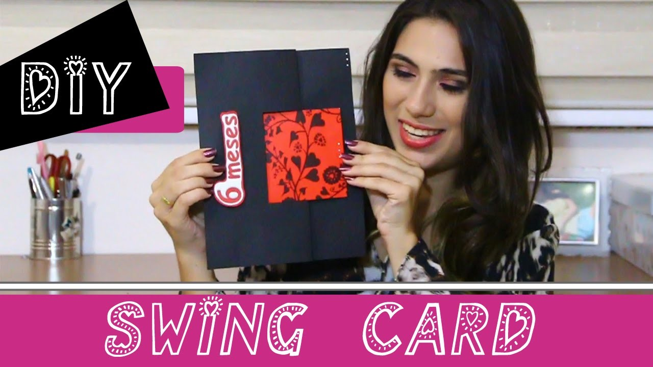 DIY - Swing Card (cartão 6 meses)