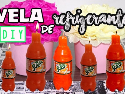 Diy:: Vela de Refrigerante Sukita| How to make candle soda|Tatiane Xavier