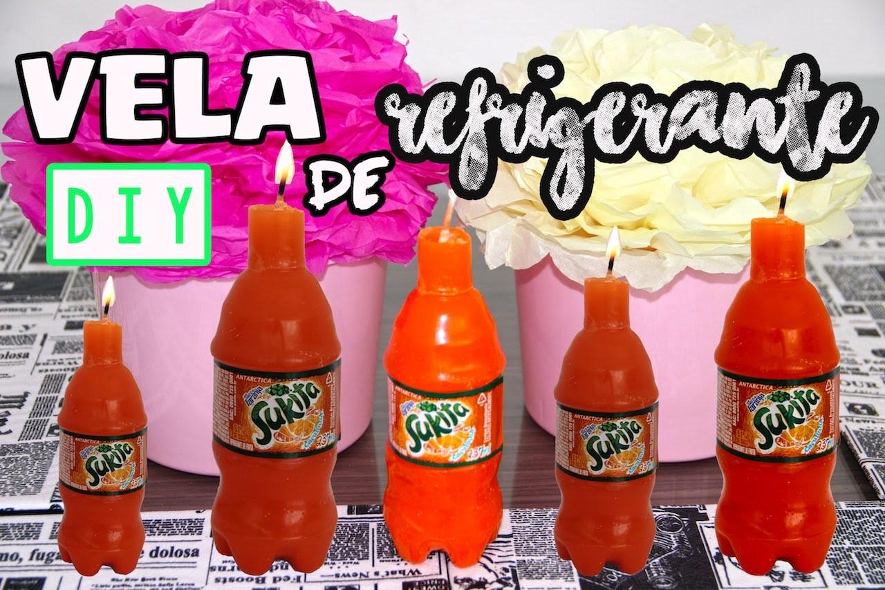 Diy:: Vela de Refrigerante Sukita| How to make candle soda|Tatiane Xavier