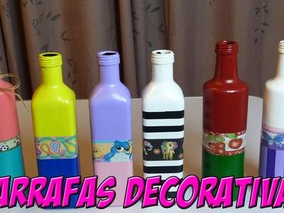 Garrafas Decorativas : DIY : DECORAÇÃO