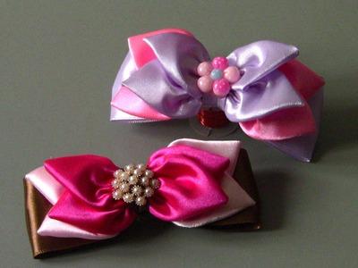 Laço com Petalas Passo a Passo- DIY -satin ribbon bow
