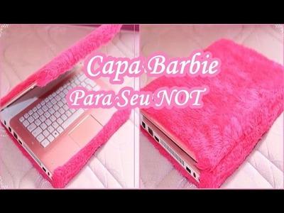 Capa Para Notebook de Pelúcia | Super Barbie