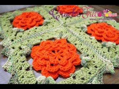 Crochê - Tapetinho Square Floral