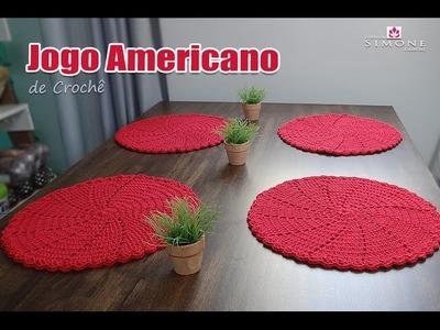 Jogo americano de Crochê - Professora Simone