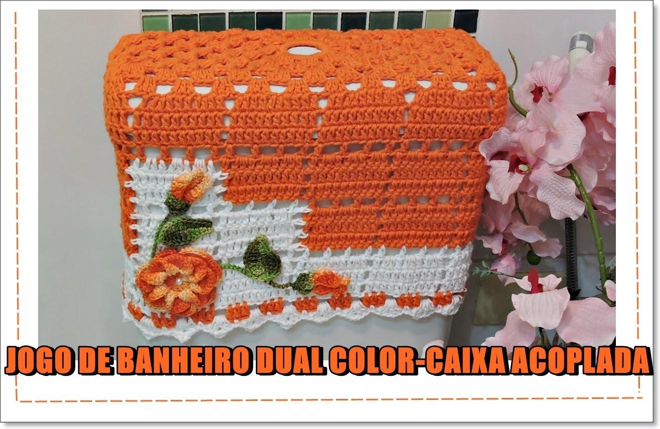 JOGO DE BANHEIRO DUAL COLOR CAIXA ACOPLADA.DIANE GONÇALVES My Crafts  #AF4B1C 1316x856 Banheiro Acessível Com Caixa Acoplada