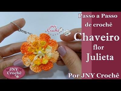 PAP Chaveiro Flor Julieta por JNY Crochê