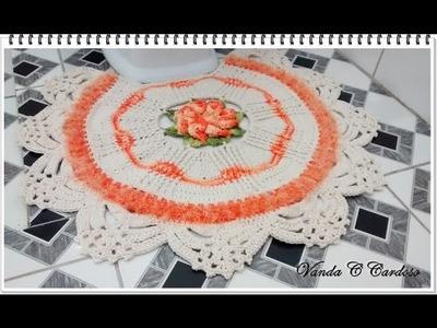 Tapete do vaso - Jogo de banheiro em crochê Princesa