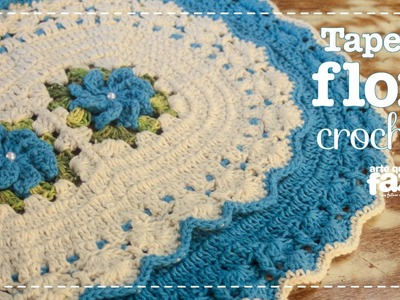 Tapete Flor em crochê (Diane Gonçalves)