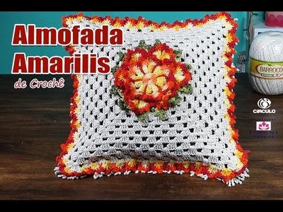 Almofada de Crochê - Amarilis - Professora Simone