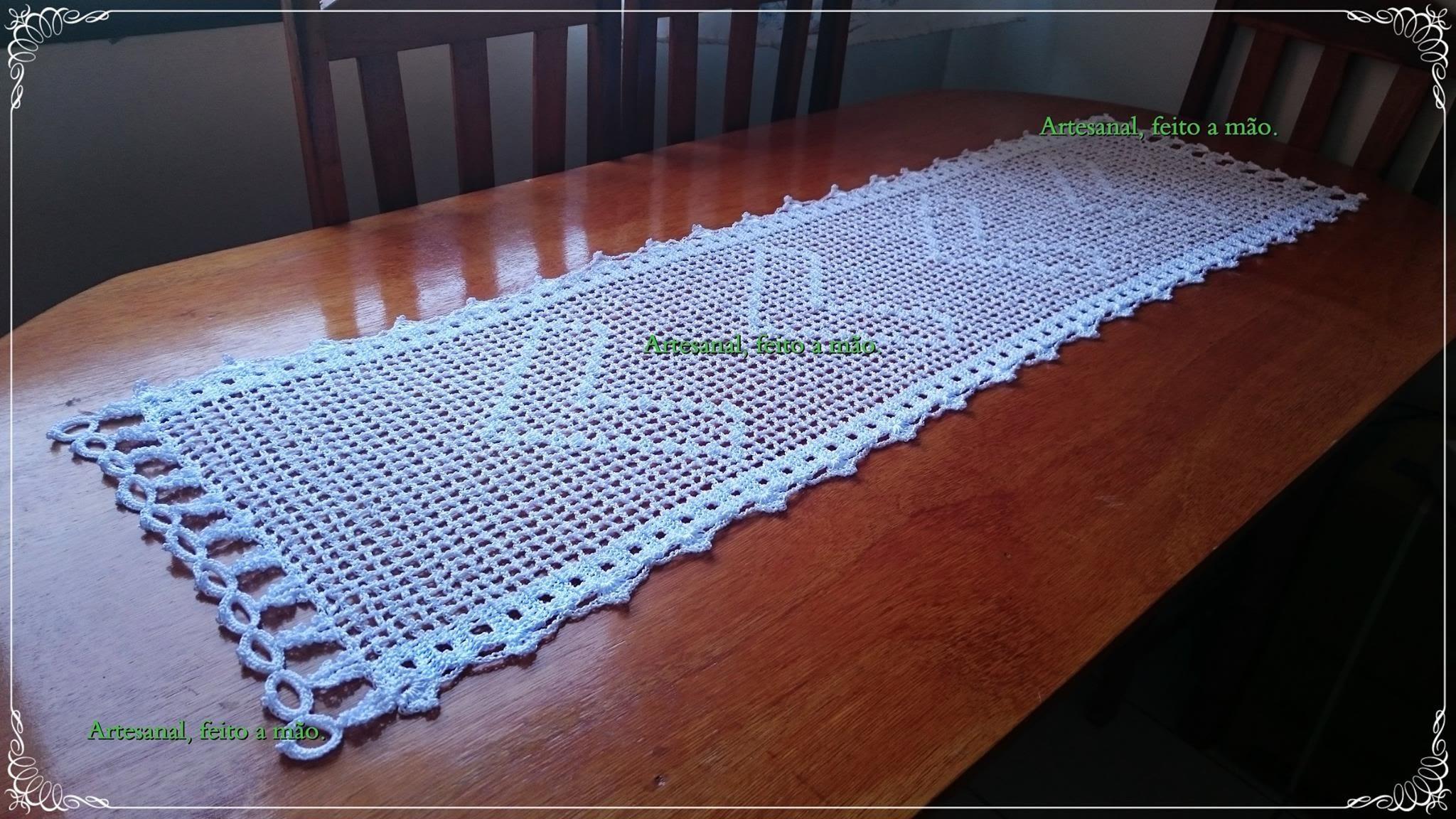 Caminho de mesa em croche parte 1