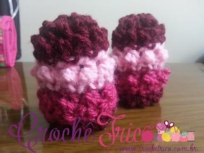 Crochê - Luvinhas Algodão Doce (0 à 3 meses)
