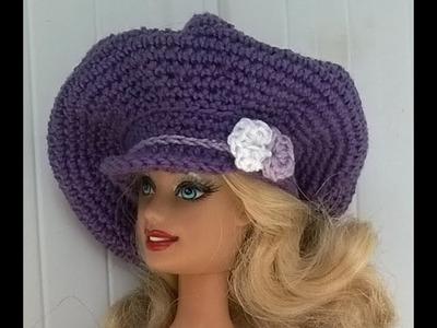Diy Boina com aba para boneca barbie - Faça você mesma