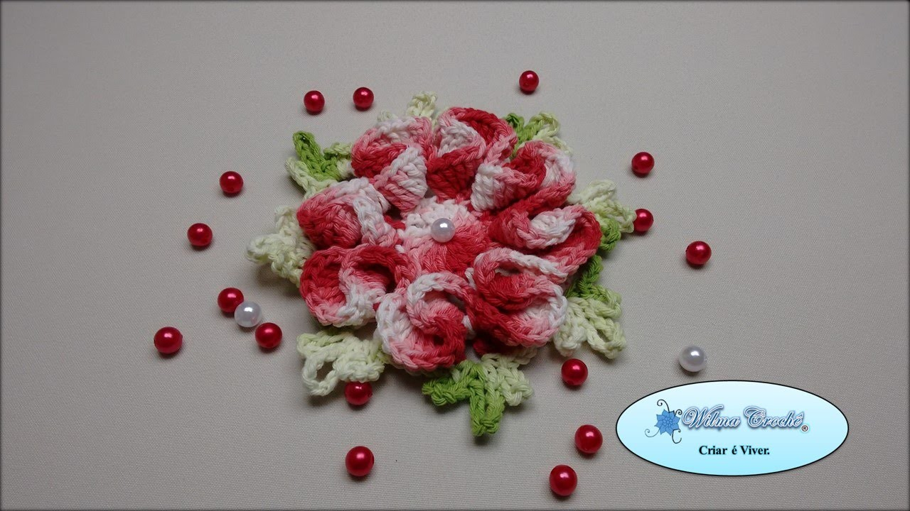Flor de Crochê Para Aplicação - Flor 04