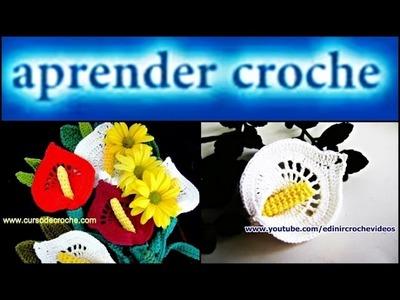 FLORES EM CROCHE FLOR COPO DE LEITE - 044