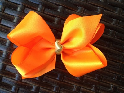 Laço Boutique com Pontas - Super fácil - Laço Boutique Tradicional - How to make a boutique bow