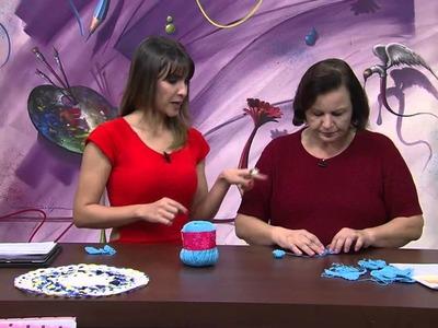 Mulher.com 11.09.2014 - Bata Amarela Croche Vitrine por Sandra Motti - Parte 1