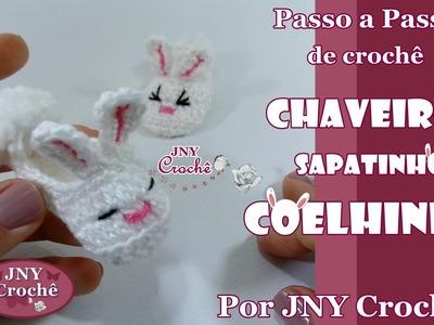 Passo a Passo Chaveiro Coelhinho de crochê por JNY Crochê