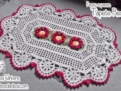 Tapete de Crochê - Flor Requinte