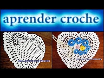 TOALHA EM CROCHE CORAÇÃO DA WEB -  014 PARTE 1