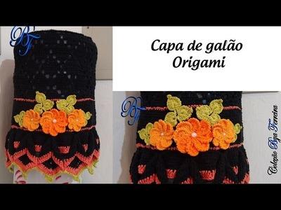 [Versão canhoto] Capa de galão Origami - Base