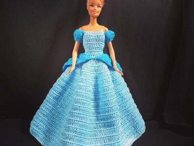Vestido da Cinderela.croche -LiiArt