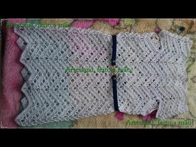 Vestido feito em crochê infantil parte 4