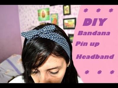 DIY Bandana pin up (Headband)