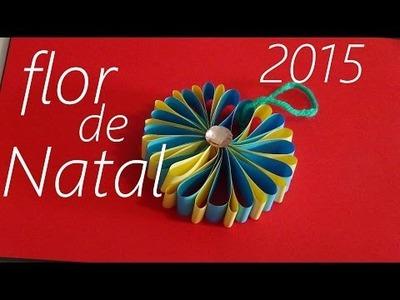 DIY Saiba como fazer uma flor para decorar sua arvore de natal  # 11