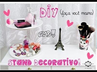 DIY: Stand Decorativo para Bijouterias, Maquiagens e Perfumes!