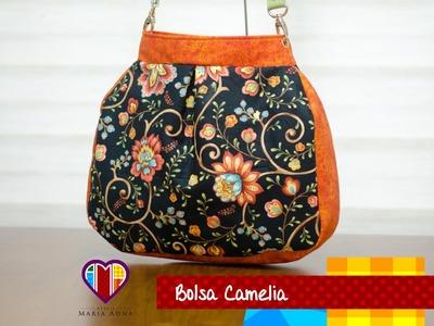 Bolsa sacola de tecido Camélia - Maria Adna Ateliê - Cursos e aulas de bolsas de tecido e couro