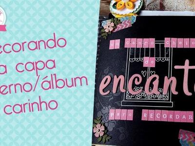 Capa álbum. caderno decorada- Scrapbook by Tamy