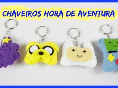 Chaveiro Hora de Aventura - Finn, Jake, Princesa Caroço e BMO.