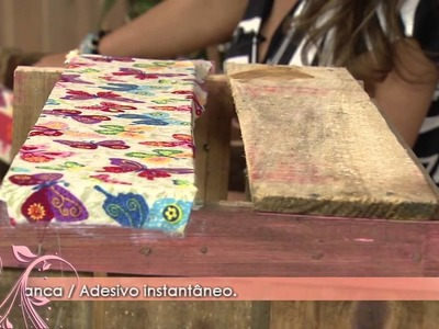 Como fazer um lindo revisteiro utilizando caixote madeira!