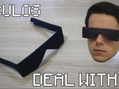 Como Fazer um Óculos de Papel - Origami
