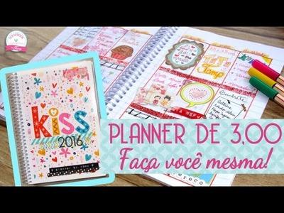 Como fazer um PLANNER DE 3,00 Gastando pouco ♥ - Scrapbook by Tamy