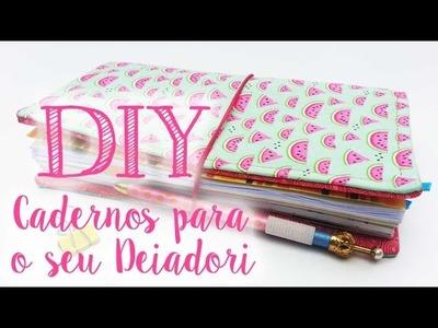 DIY - Cadernos para Deiadori e outros travelers notebooks