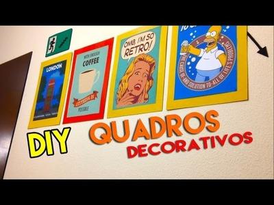 DIY - Como fazer quadros decorativos | vintage | retro