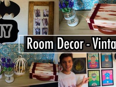 DIY - Decoração Vintage | Room Decor #2 - Eduardo Wizard - ft. Inventei e Decorei