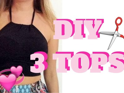 DIY TOP CROPPED. HALTER TOP, TOP FRENTE ÚNICA, TOP DE TIRAS. STRAPPY BRA .