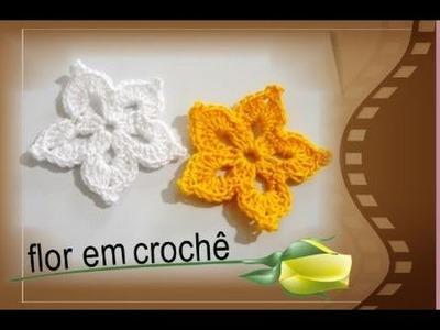 Flor em crochê para aplique *passo a passo*