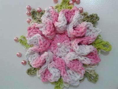 """Flor Monalisa #Coleção """"Minhas flores em Crochê"""""""