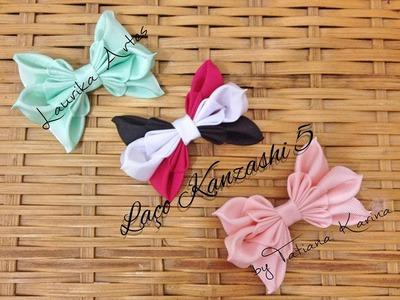 Laço Kanzashi 5 by Tatiana Karina ( ribbon kanzashi)