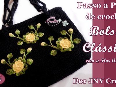 PAP Bolsa de crochê Clássica por JNY Crochê