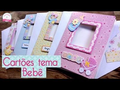 PAP Cartões de bebê fácil- Scrapbook by Tamy