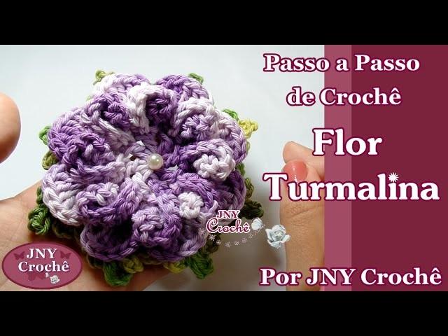 Passo a Passo de Crochê Flor Turmalina por JNY Crochê