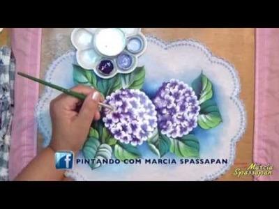 Pintando em 5 Minutos com Márcia Spassapan | Hortênsia - Carga Dupla
